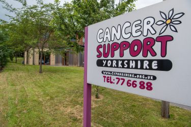 Photo of Cancer Support Yorkshire sign