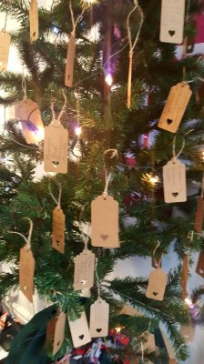 in memory messages hung on xmas tree