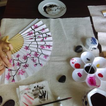 Chines fan painting