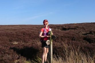Linda on the morrs running