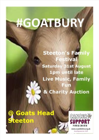 poster for goatbury family festival