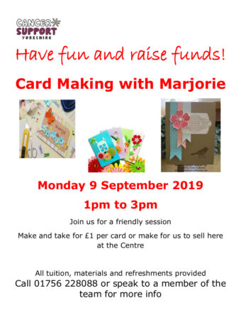 poster for card making workshop