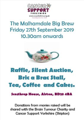 poster for malhamdale coffee morning